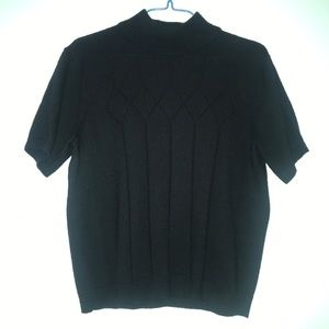 Tops - black mock neck sweater top
